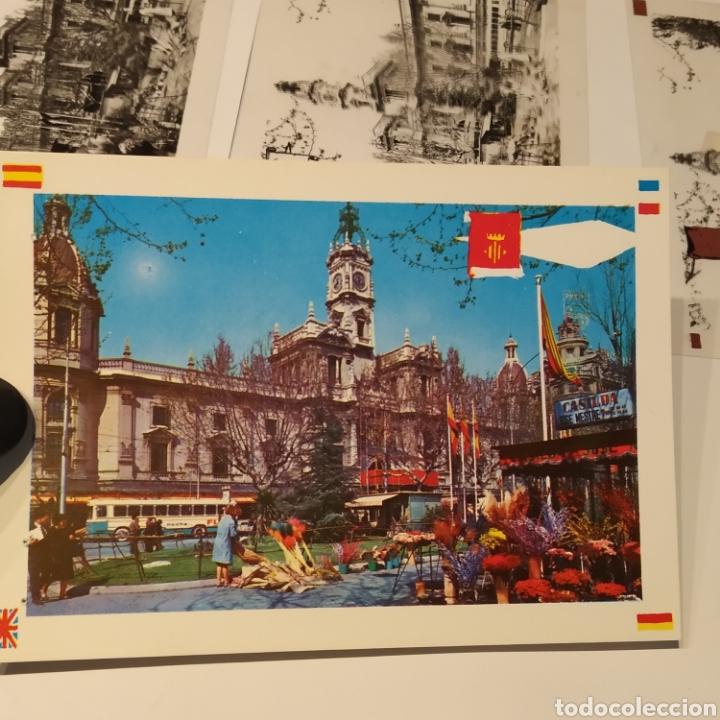 Postales: ¡IRREPETIBLE! Valencia Plaza del Caudillo, puesto de flores EL PERGAMINO 5283 Clichés +pruebas capas - Foto 9 - 225894245