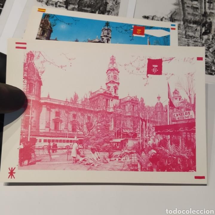 Postales: ¡IRREPETIBLE! Valencia Plaza del Caudillo, puesto de flores EL PERGAMINO 5283 Clichés +pruebas capas - Foto 10 - 225894245