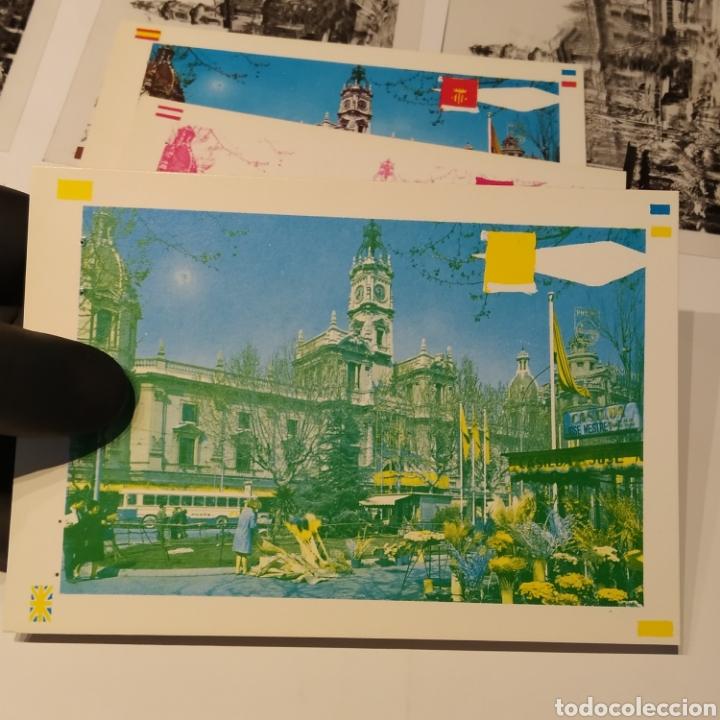Postales: ¡IRREPETIBLE! Valencia Plaza del Caudillo, puesto de flores EL PERGAMINO 5283 Clichés +pruebas capas - Foto 11 - 225894245