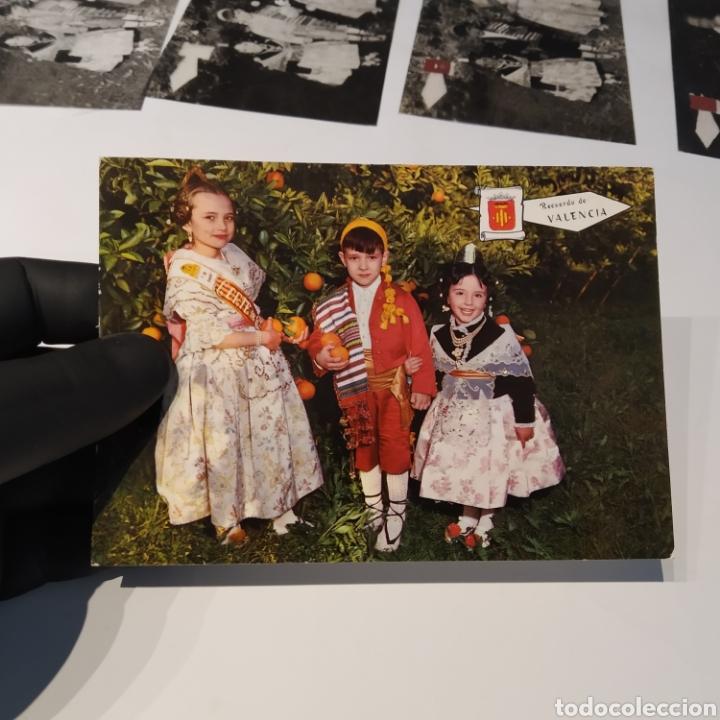 Postales: ¡IRREPETIBLE! Valencia , Cogiendo Naranjas EL PERGAMINO 3031 Clichés + pruebas de capas + postal - Foto 2 - 225900130