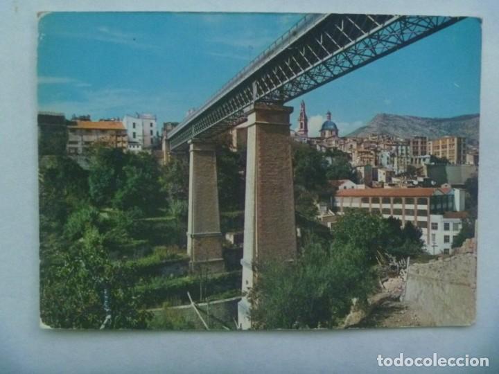 POSTAL DE ALCOY ( ALICANTE ): VIADUCTO DE CANALEJAS . AÑOS 60 (Postales - España - Comunidad Valenciana Moderna (desde 1940))