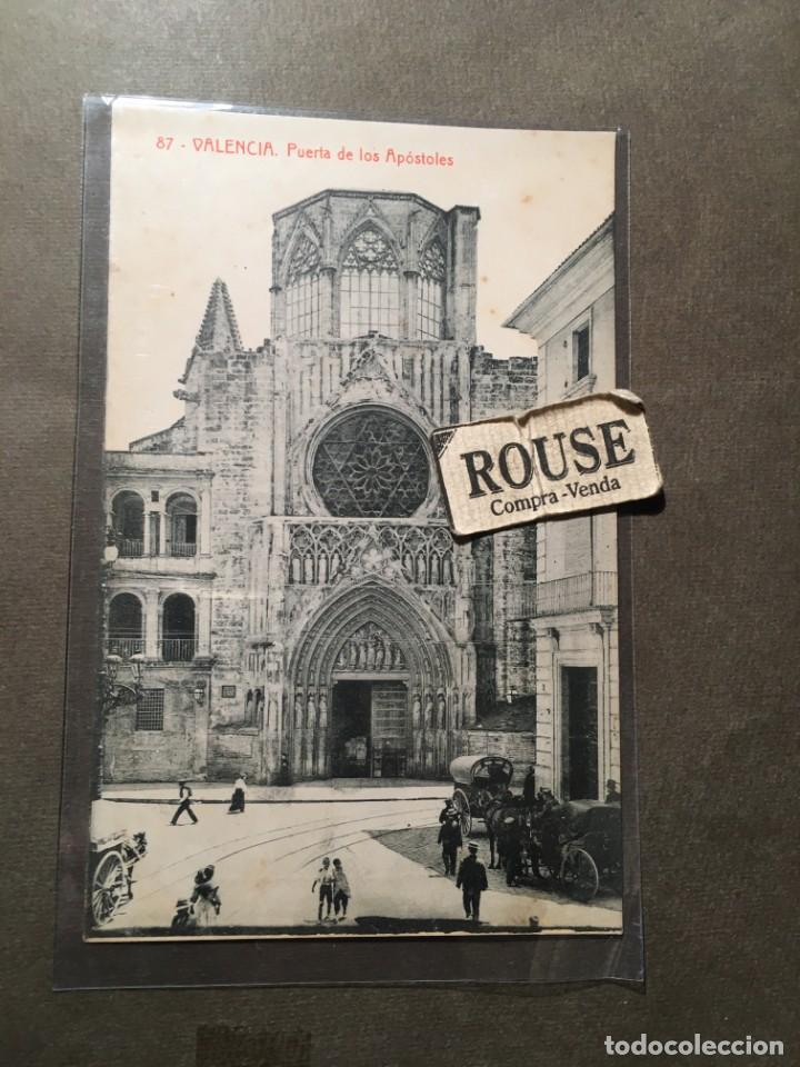 87 .- VALENCIA . PUERTA DE LOS APOSTOLES 2534 , FOTOTIP. THOMAS 2534 - 14X9 CM. (Postales - España - Comunidad Valenciana Antigua (hasta 1939))