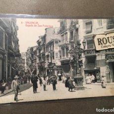 Postales: 8.-VALENCIA - BAJADA DE SAN FRANCISCO 58- FOTOTIP. THOMAS - 14X9 CM.. Lote 226596315