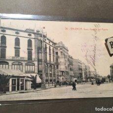 Postales: 20.- VALENCIA , GRAO , AVENIDA DEL PUERTO CIRCULADA 1910 70 FOTOTIP. THOMAS - 14X9 CM.. Lote 226604855
