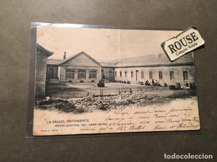 ONTENIENTE - LA SALUD , PATIO CENTRAL DEL GRAN HOTEL SERIE I NºI H.M. CIRCULADA 1903 REVERSO SIN DIV (Postales - España - Comunidad Valenciana Antigua (hasta 1939))