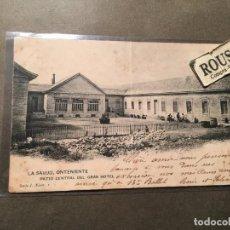 Postales: ONTENIENTE - LA SALUD , PATIO CENTRAL DEL GRAN HOTEL SERIE I NºI H.M. CIRCULADA 1903 REVERSO SIN DIV. Lote 226610725