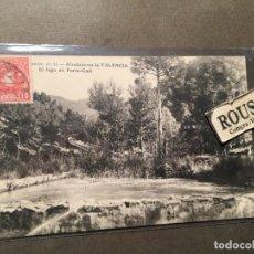 Postales: 15 VALENCIA , ALREDEDORES DE VALENCIA EL LAGO EN PORTA-COELI EDC.L. CRUMIERE 14X9 CM. CIRCULADA 1909. Lote 226615250