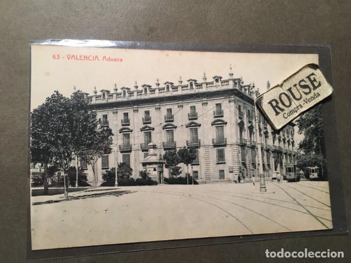 63 .- VALENCIA - ADUANA 113 FOTOTIP. THOMAS 14X9 CM. (Postales - España - Comunidad Valenciana Antigua (hasta 1939))