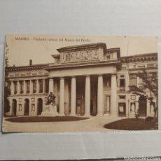 Postales: MADRID, FACHADA LATERAL DEL MUSEO DEL PRADO, EDICIÓN GRANDES ALMACENES MADRID - PARÍS. Lote 227599350