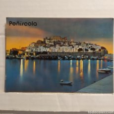 Postales: 45 PEÑÍSCOLA (CASTELLÓN) VISTA PACIAL NOCTURNA, EDICIONES ARRIBAS. Lote 227639735