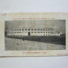 Postales: VINAROZ-PLAZA DE TOROS-REVERSO SIN DIVIDIR-FIESTAS CENTENARIAS SAN SEBASTIAN 1910-POSTAL-(76.369). Lote 229595025
