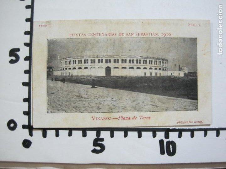 Postales: VINAROZ-PLAZA DE TOROS-REVERSO SIN DIVIDIR-FIESTAS CENTENARIAS SAN SEBASTIAN 1910-POSTAL-(76.369) - Foto 4 - 229595025