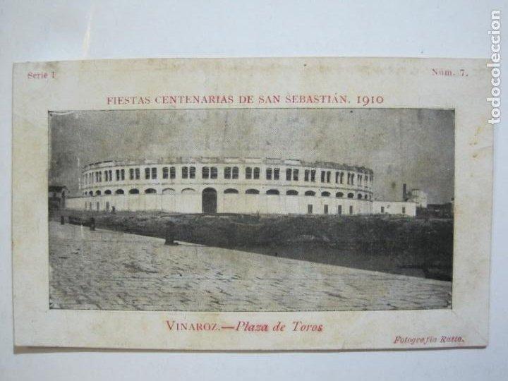 Postales: VINAROZ-PLAZA DE TOROS-REVERSO SIN DIVIDIR-FIESTAS CENTENARIAS SAN SEBASTIAN 1910-POSTAL-(76.369) - Foto 2 - 229595025