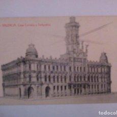 """Postales: POSTAL DE VALÈNCIA """"CASA CORREOS Y TELÉGRAFOS"""". Lote 229719830"""