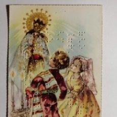 Cartoline: POSTAL RADIOAFICIONADO VALENCIA VIRGEN DESAMPARADOS BRAILLE. Lote 233946255