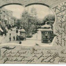 Postales: VALENCIA PLAZA DE EMILIO CASTELAR-MODERNISTA AÑO 1904 MUY RARA. Lote 234895495