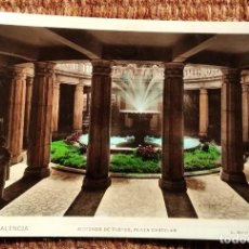 Postales: VALENCIA - PLAZA CASTELAR - MERCADO FLORES SELLO III CENTENARIO LOPE DE VEGA. Lote 236518595