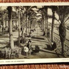Postales: ALICANTE - PASEO DE LOS MARTIRES - L. ROISIN. Lote 236528230