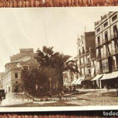 Postales: CASTELLON - PLAZA DE LA PAZ Y TEATRO PRINCIPAL. Lote 236528715