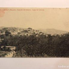 Postales: BUSOT (ALICANTE) POSTAL NO.17, ESTACIÓN DE INVIERNO. CASAS DE COLONOS. FOTOTIPIA THOMAS (H.1920?). Lote 236652210