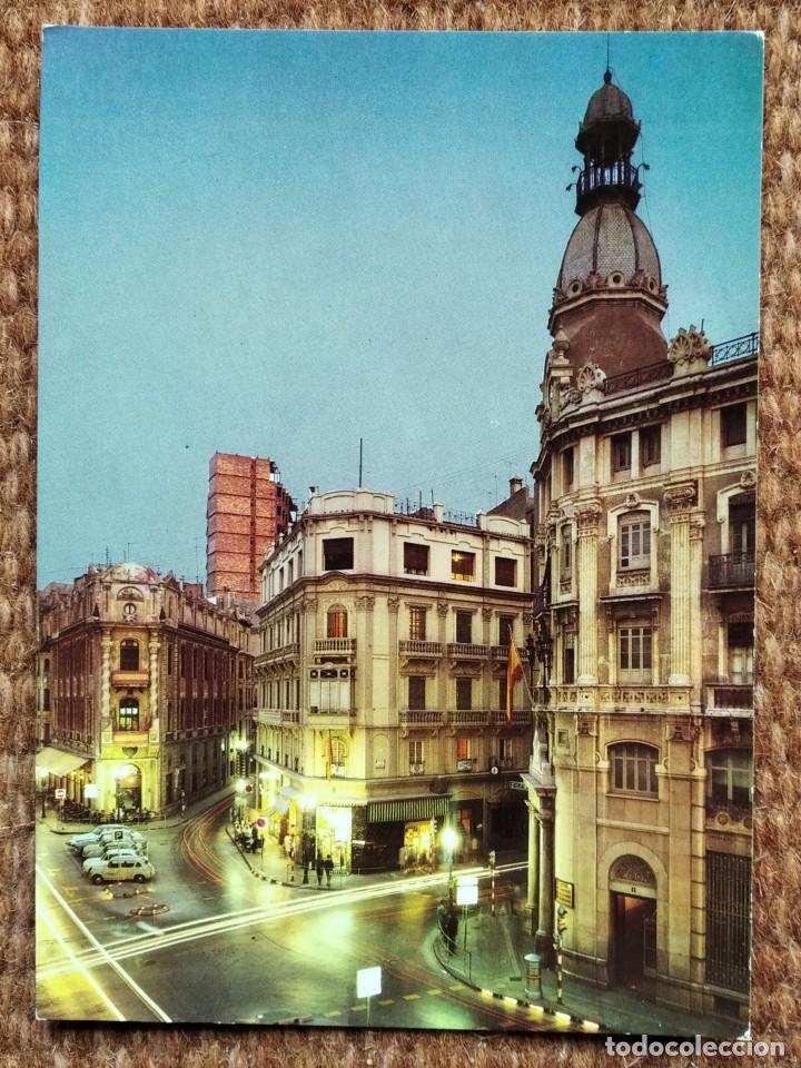 CASTELLON - PLAZA DEL CAUDILLO - NOCTURNA (Postales - España - Comunidad Valenciana Moderna (desde 1940))
