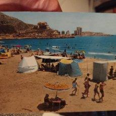 Postales: CULLERA PLAYA HOTEL SICANIA PUBLICIDAD TIENDA DAMA ELCHE GARRABELLA 12 ORIGINAL. Lote 236779085