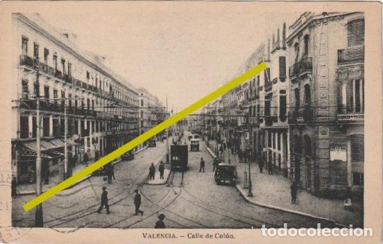 POSTAL CALLE DE COLON VALENCIA CIRCULADA EN 1934 DESDE ROMA A VALENCIA - -R-11 (Postales - España - Comunidad Valenciana Antigua (hasta 1939))