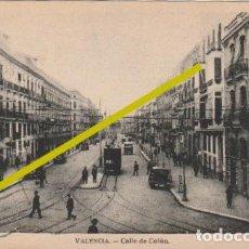 Postales: POSTAL CALLE DE COLON VALENCIA CIRCULADA EN 1934 DESDE ROMA A VALENCIA - -R-11. Lote 236907545