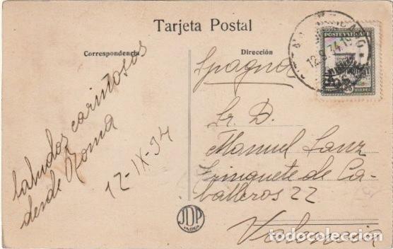 Postales: POSTAL CALLE DE COLON VALENCIA CIRCULADA EN 1934 DESDE ROMA A VALENCIA - -R-11 - Foto 2 - 236907545