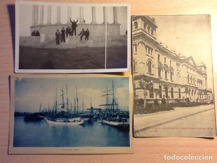 LOTE 3 TARJETAS POSTAL ANTIGUAS DE VALENCIA (Postales - España - Comunidad Valenciana Antigua (hasta 1939))