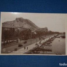 """Postales: TARJETA POSTAL ALICANTE EDICIONES """"UNIQUE"""" B/N Nº 1317 VISTA PANORÁMICA Y CASTILLO. Lote 237566950"""