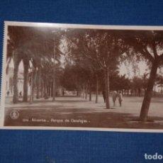 """Postales: TARJETA POSTAL ALICANTE EDICIONES """"UNIQUE"""" B/N Nº 1316 PARQUE DE CANALEJAS. Lote 237567740"""