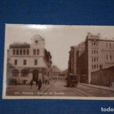 "Postales: TARJETA POSTAL ALICANTE EDICIONES ""UNIQUE"" B/N Nº 1314 AVENIDA DE ZORRILLA. Lote 237569030"
