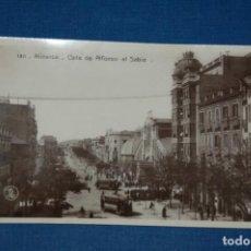 """Postales: TARJETA POSTAL ALICANTE EDICIONES """"UNIQUE"""" B/N Nº 1311 AVENIDA ALFONSO EL SABIO,MERCADO CENTRAL .. Lote 237569895"""