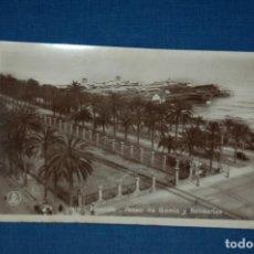 """Postales: TARJETA POSTAL ALICANTE EDICIONES """"UNIQUE"""" B/N Nº 1310 PASEO DE GOMIZ Y BALNEARIOS. Lote 237570515"""