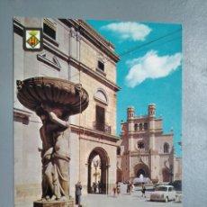 Postales: POSTAL 3 CASTELLÓN DE LA PLANA PLAZA MAYOR COMAS ALDEA AÑO 1962 ESCUDO DE ORO. Lote 239858100