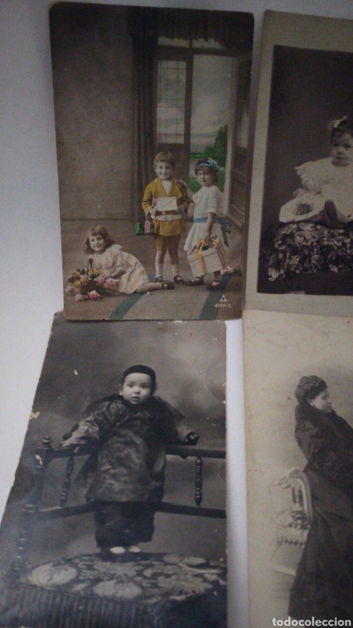 Postales: 9 tarjetas postales antiguas la mayoría de niños y niñas. - Foto 2 - 240969745