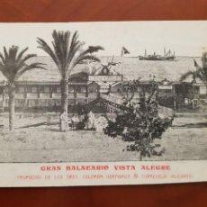 Postales: ANTIGUA POSTAL GRAN BALNEARIO VISTA ALEGRE TORREVIEJA ALICANTE. Lote 243185780