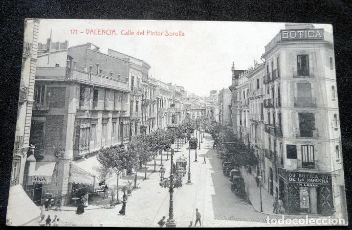 POSTAL - VALENCIA - CALLE DEL PINTOR SOROLLA - FOTOTIPIA THOMAS Nº 171 - ESCRITA (Postales - España - Comunidad Valenciana Antigua (hasta 1939))