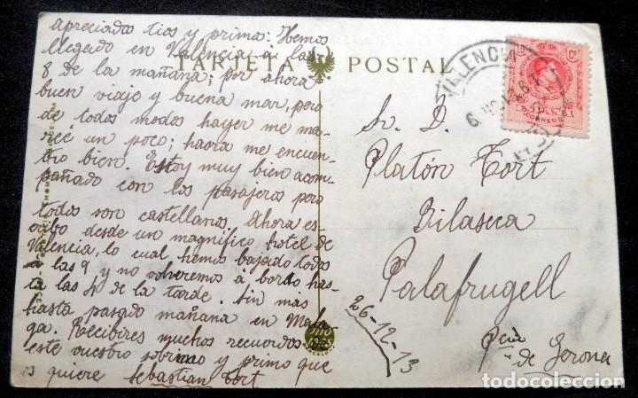 Postales: POSTAL - VALENCIA - CALLE DEL PINTOR SOROLLA - FOTOTIPIA THOMAS Nº 171 - ESCRITA - Foto 2 - 243243320