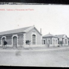 Postales: POSTAL - ALICANTE - TALLERES Y ALMACENES DEL PUERTO - ED THOMAS. Lote 243249560