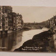 Postales: GIRONA - PONT DE PEDRA I RIU ONYAR - VALENTÍ FARGNOLI - LCC - P46750. Lote 243484855