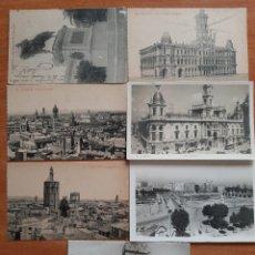 Postales: LOTE DE SIETE POSTALES EN NEGRO DE VALENCIA. Lote 244696375