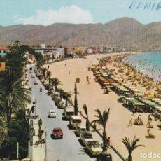 Postales: BENIDORM (ALICANTE) PLAYA DE LEVANTE Y AVENIDA DE ALCOY – ESCUDO DE ORO Nº5 – S/C. Lote 244775620