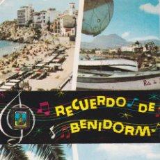 Postales: BENIDORM (ALICANTE) PLAYA DE LEVANTE, VARADERO EN LA PLAYA – ESCUDO DE ORO Nº24 – CIRCULADA. Lote 244775685