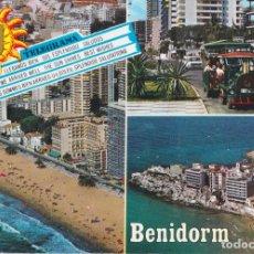 Postales: BENIDORM (ALICANTE) DIVERSOS ASPECTOS – ESCUDO DE ORO Nº167 – ESCRITA. Lote 244775880