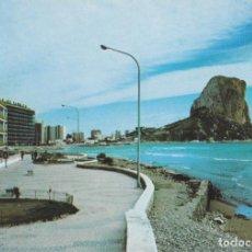 Postales: CALPE (ALICANTE) PEÑÓN Y PASEO MARÍTIMO – ESCUDO DE ORO Nº128 – CIRCULADA. Lote 244776250