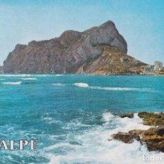 Postales: CALPE (ALICANTE) PEÑÓN DE IFACH – ESCUDO DE ORO Nº111 – CIRCULADA. Lote 244776305