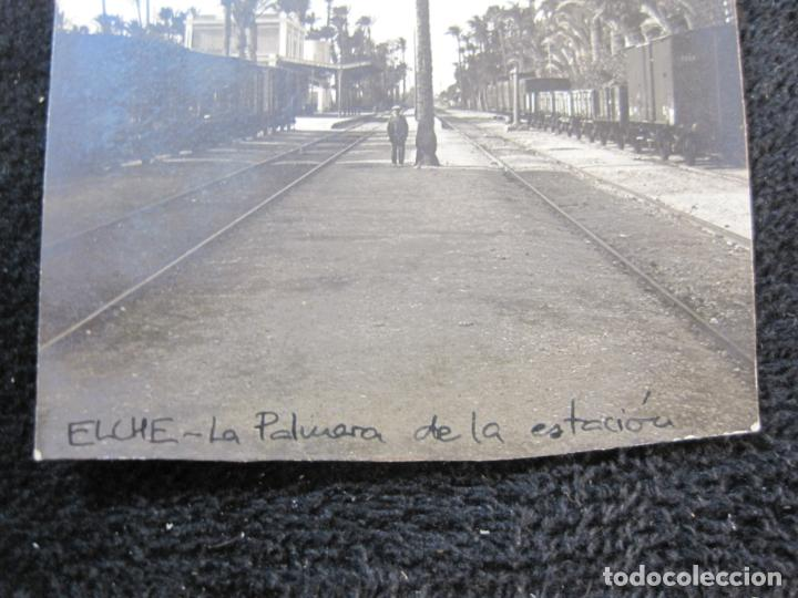 Postales: ELCHE-LA PALMERA DE LA ESTACION DEL FERROCARRIL-FOTOGRAFICA-ROISIN-POSTAL ANTIGUA-VER FOTOS-(77.841) - Foto 3 - 245101650