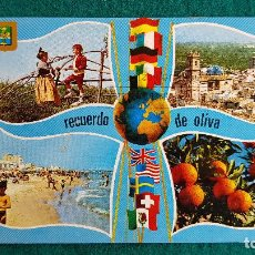 Postales: POSTAL DE OLIVA - DIVERSOS ASPECTOS - VALENCIA - RW. Lote 245998140